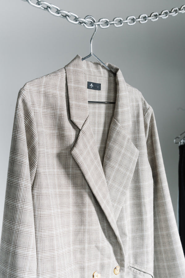 Suzie Plaid Blazer - Check