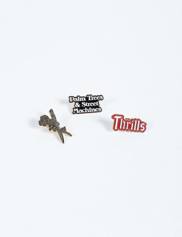 Dagger Pin Pack - 3 Assorted Pins
