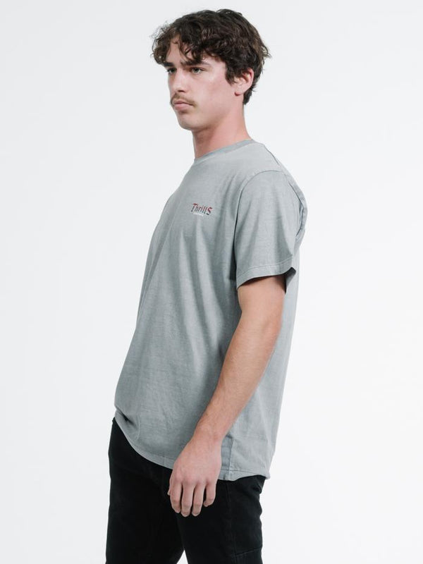Land Of the Free Merch Fit Tee - Washed Grey
