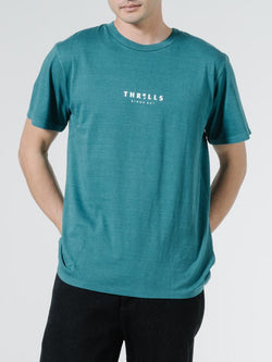 Palmed Thrills Merch Fit Tee - Washed Teal
