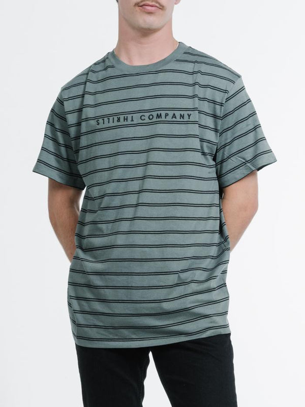 Double Stripe Merch Fit Tee - Lume Green