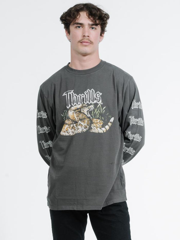 Rattling Long Sleeve Merch Fit Tee -Merch Black