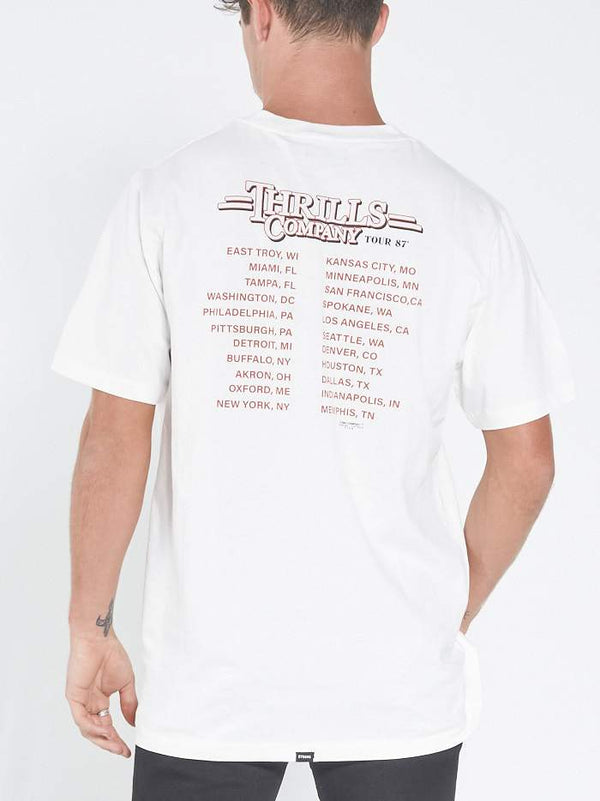 Speed Tour 87 Merch Tee - Dirty White