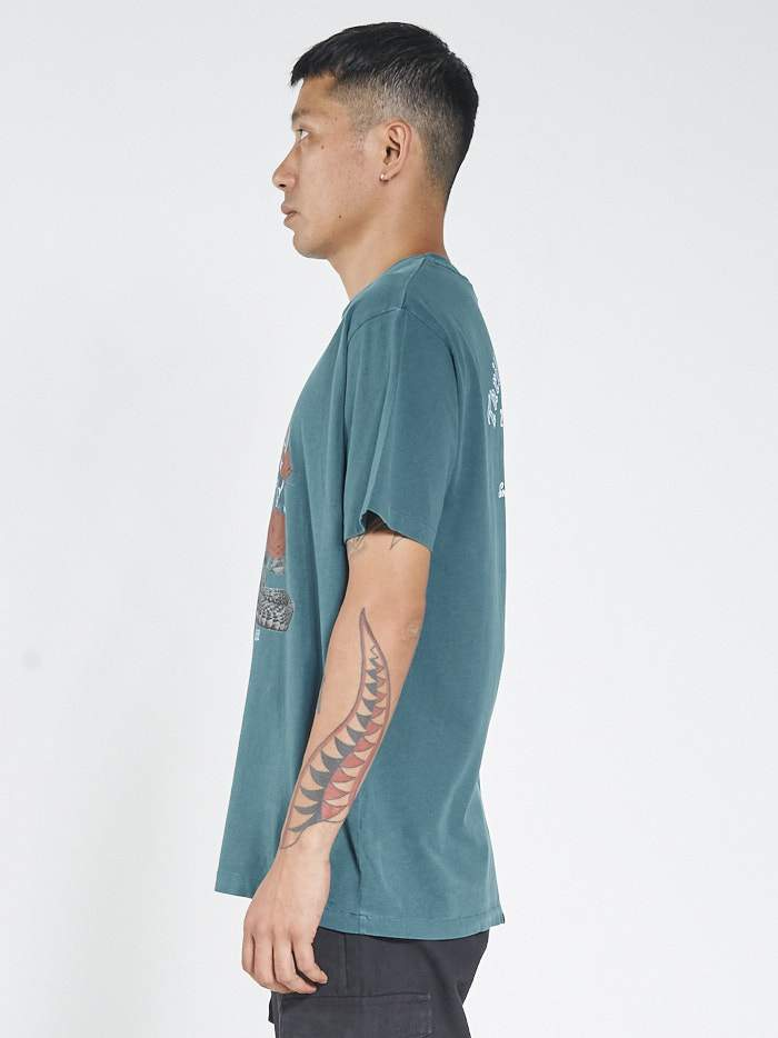 Striking Rose Merch Tee - Washed Teal
