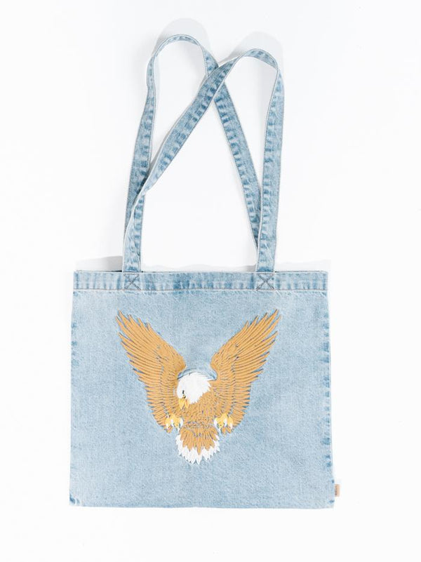 Landing Eagle Denim Tote - Thrift Blue
