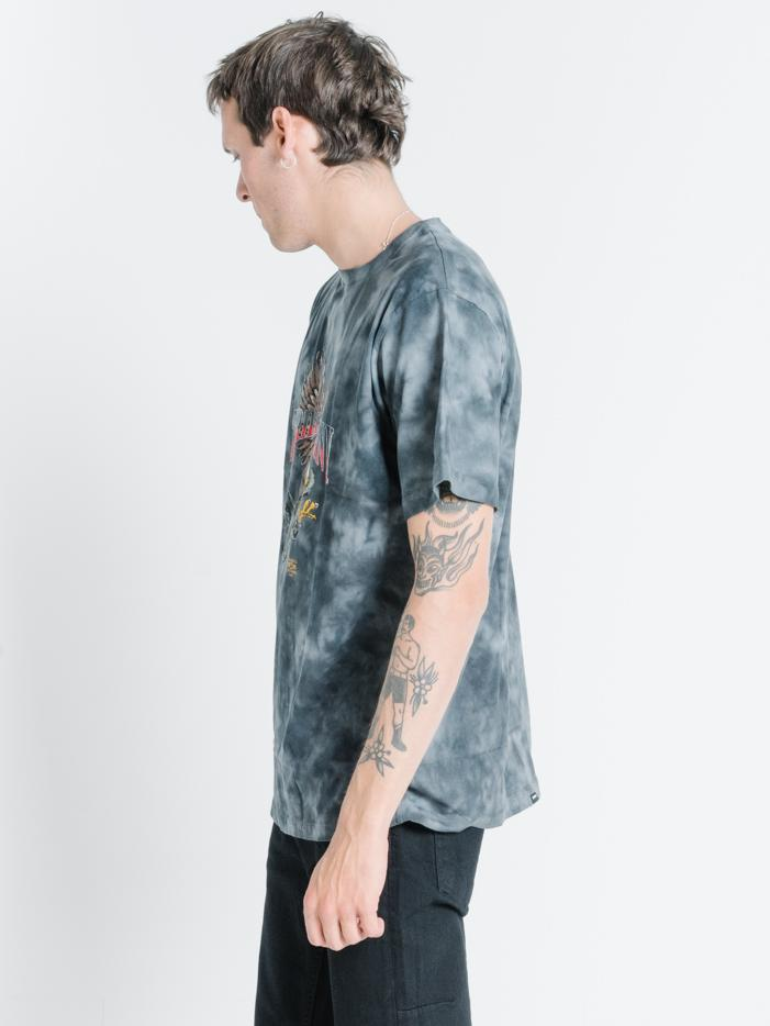 Eagle Vs Snake Merch Fit Tee - Oilspill Black Tie Dye