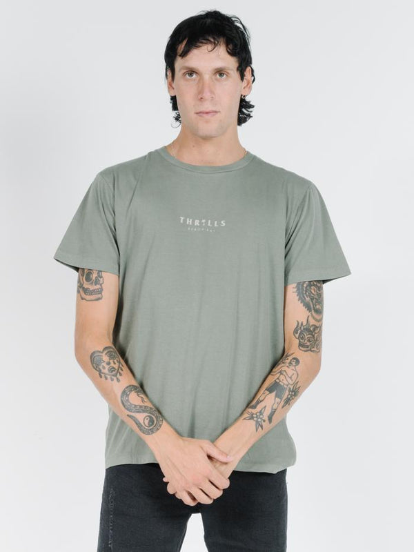 Palmed Thrills Merch Fit Tee - Army Green