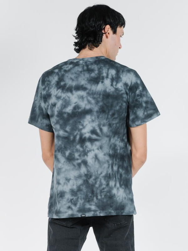 Lightening Merch Fit Tee - Oilspill Black Tie Dye