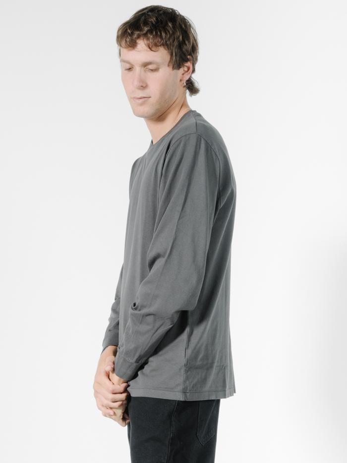 Thrills Co Cycles Merch Fit LS Tee - Merch Black