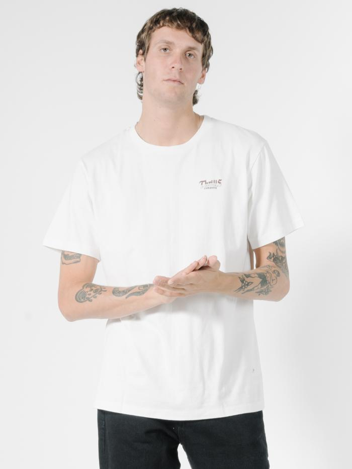 Land of the Free Merch Fit Tee - Dirty White