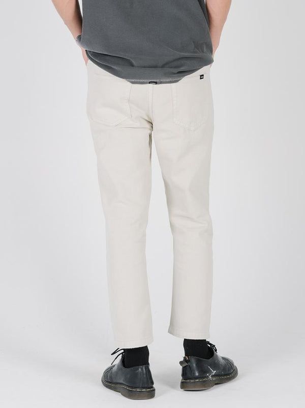 Drilled Chopped 5 Pkt Pant - Dirty White