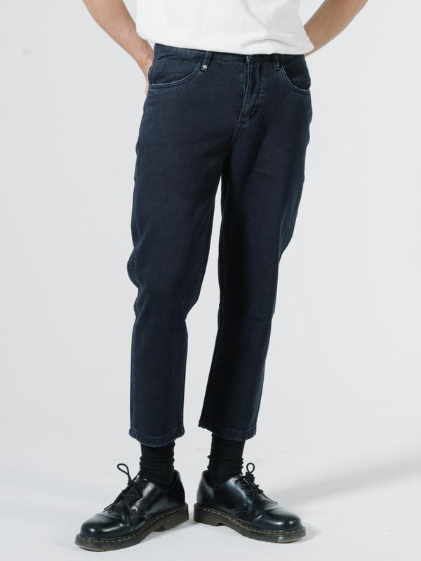 Drilled Chopped 5 Pkt Pant - Indigo