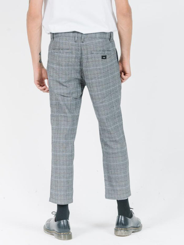 London Chopped Chino - Dark Grey Check