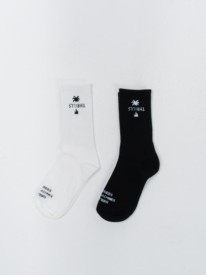 Thrills Classic Sock 2 Pack - Black/Dirty White