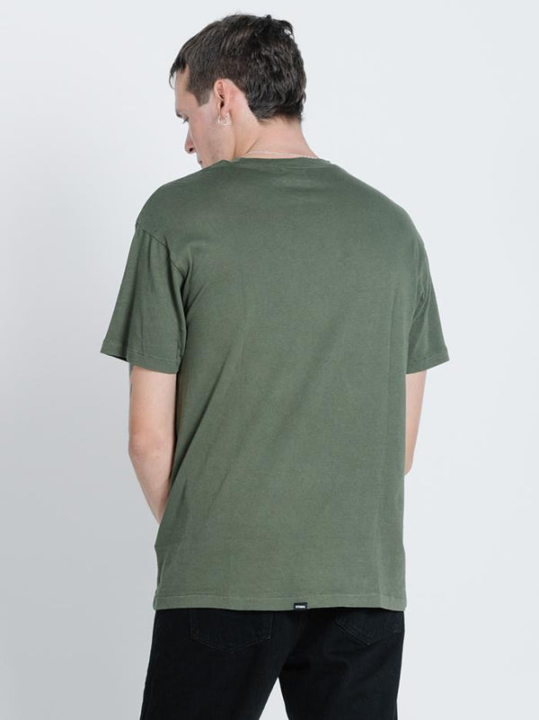 Division Box Fit Tee - Dark Olive