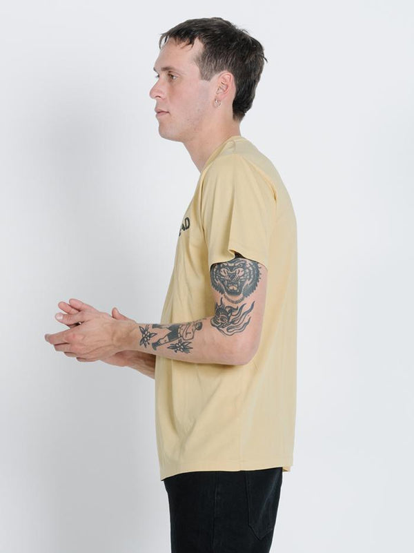 Honk If You're Dead Merch Fit Tee - Heritage Yellow