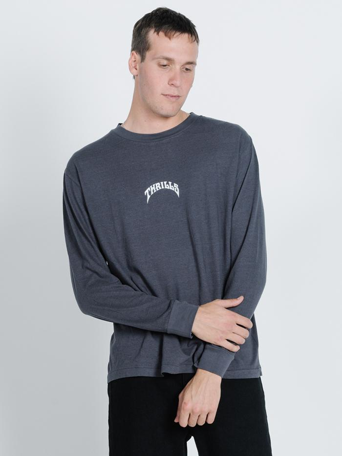 King Paradise Merch Fit Long Sleeve Tee - Washed Black