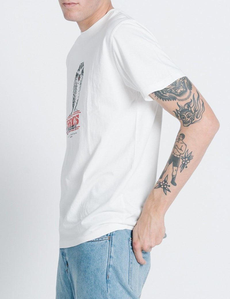 Bitten Merch Fit Tee - Dirty White