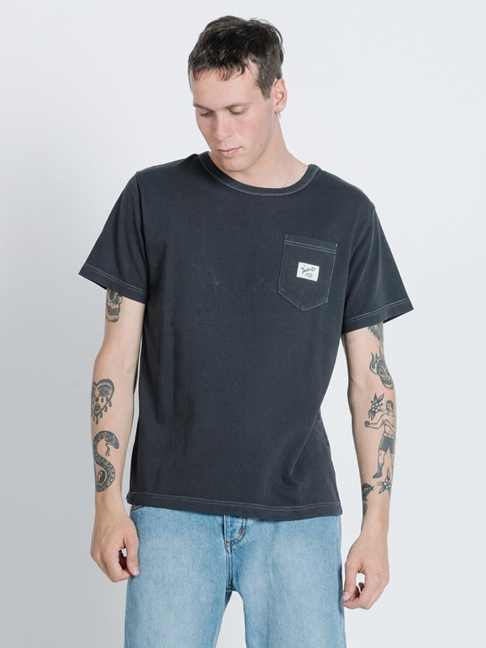 Fifty Fifty Merch Fit Pocket Tee - Heritage Black