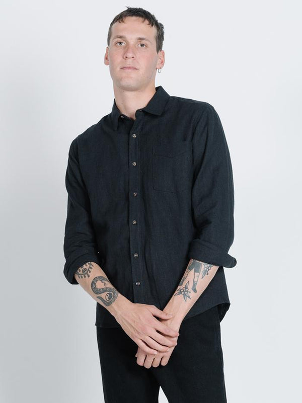 Thrills Classic Long Sleeve Shirt - Black