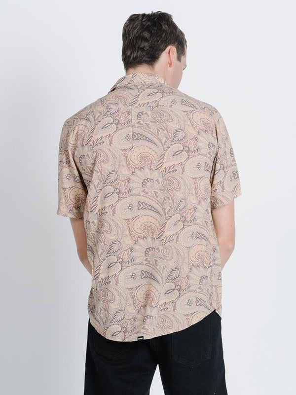 Ornate Paradise Short Sleeve Shirt - Tan