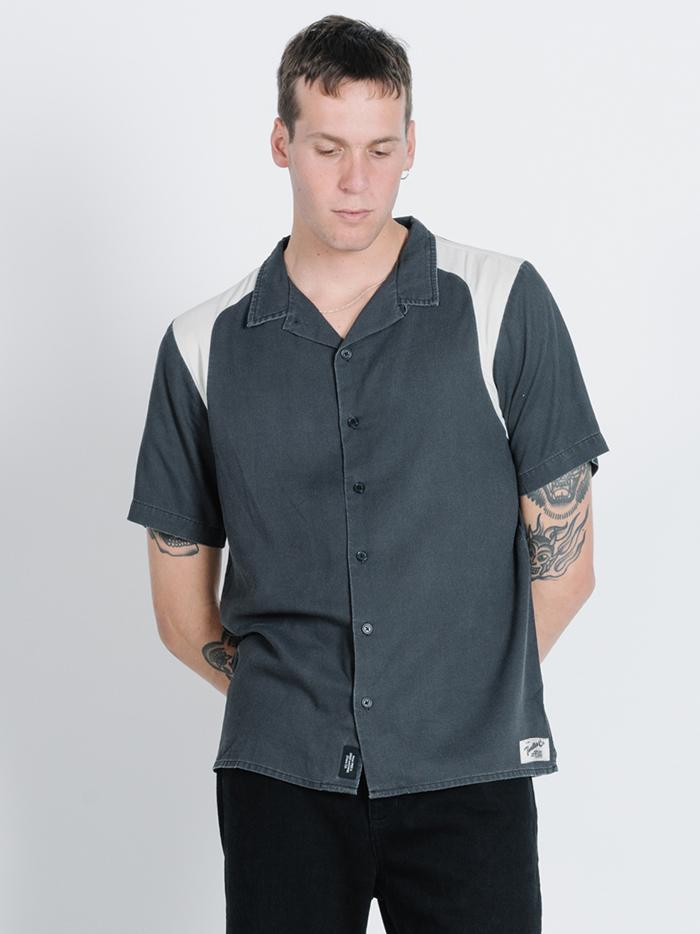 Fifty Fifty Bowling Shirt - Heritage Black
