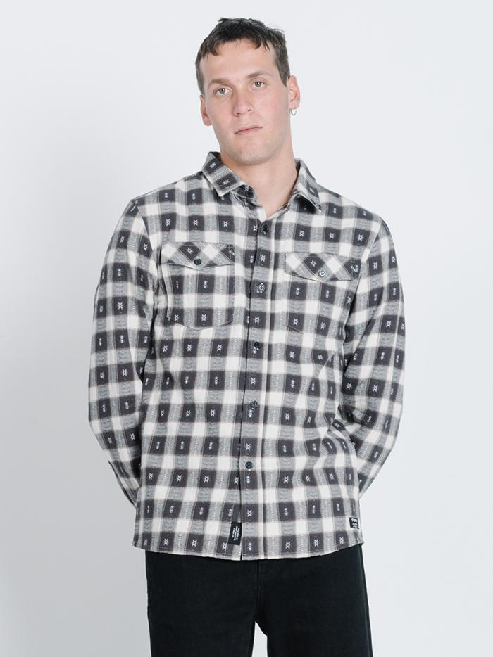 Liberty Long Sleeve Flannel - Postal Brown