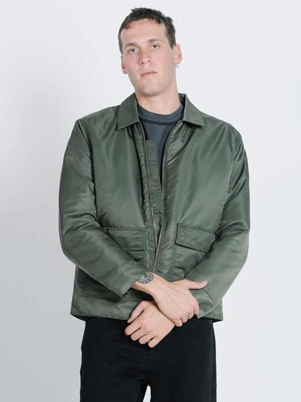 Division Flight Jacket - Dark Olive