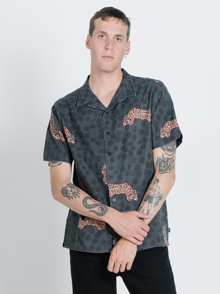 Spinal Bowling Shirt - Black