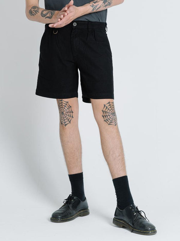 Division Pleated Military Short - Black