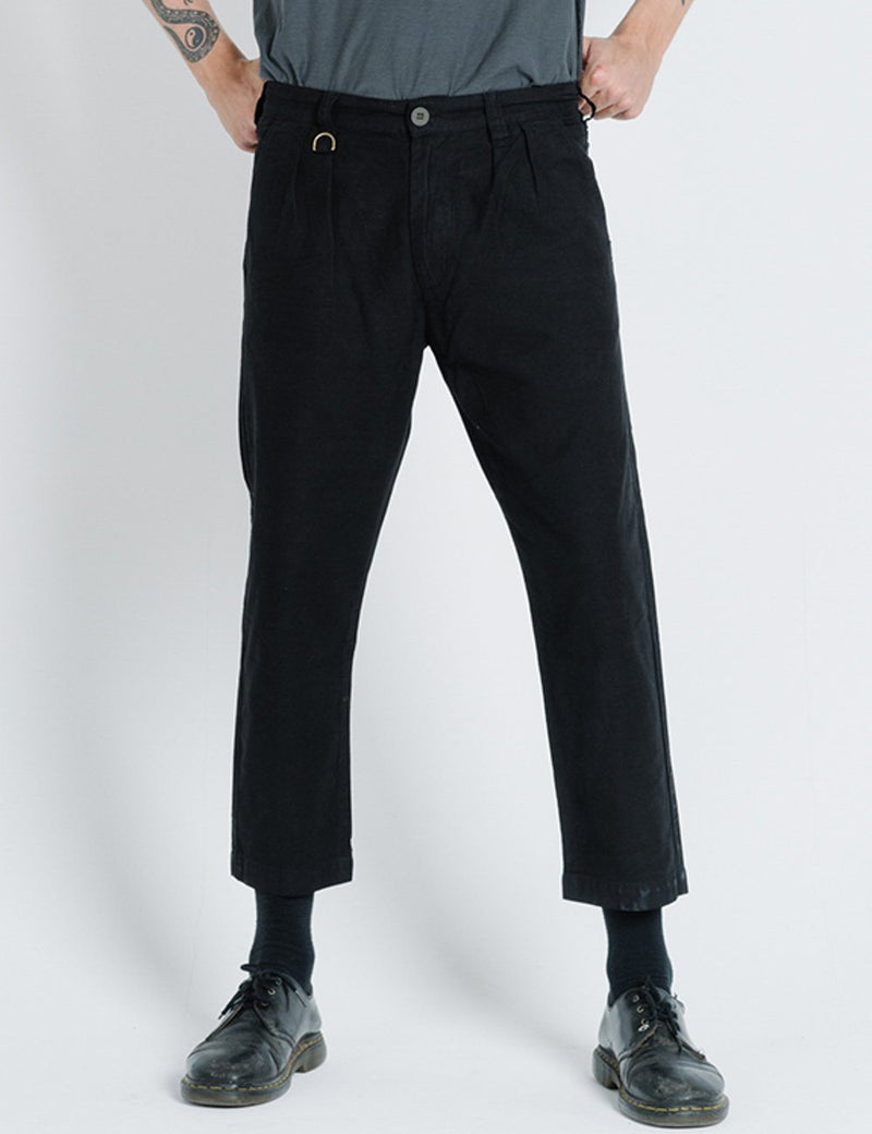 Division Pleated Military Pant - Black