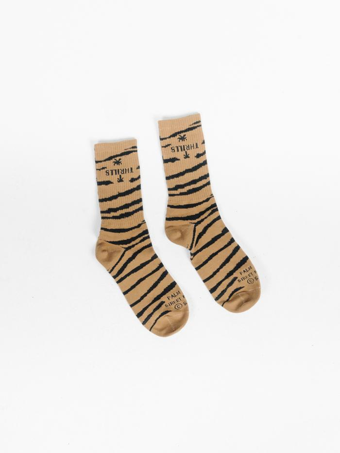 Disrupted Paradise Sock - Palm Bronze