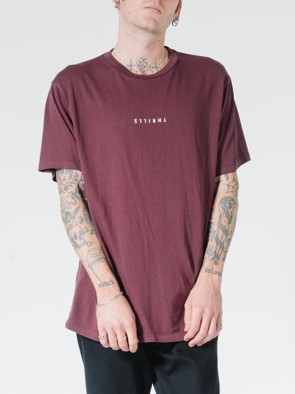 Minimal Thrills Merch Fit Tee - Blood Red