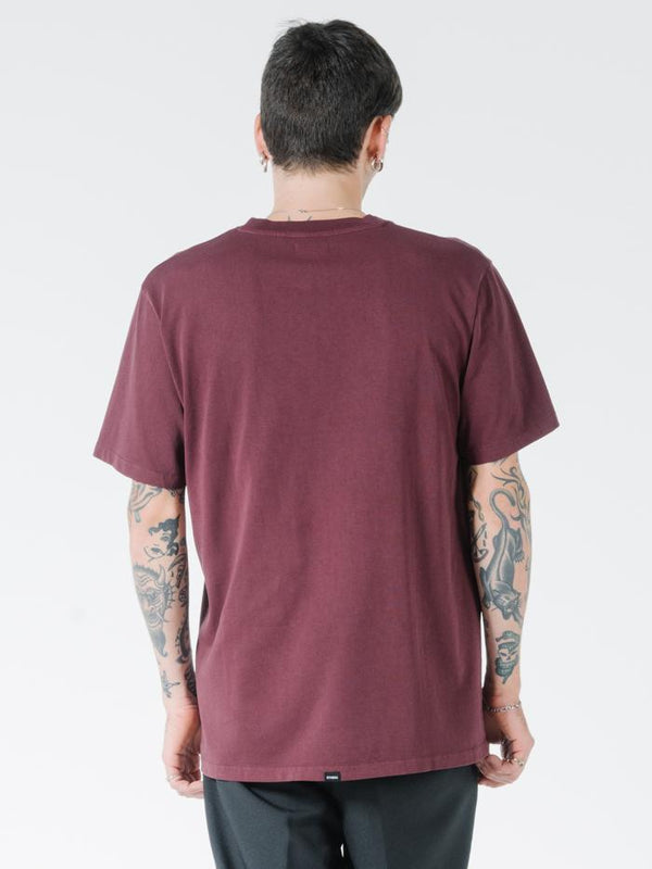 Hidden Paradise Merch Fit Tee - Blood Red