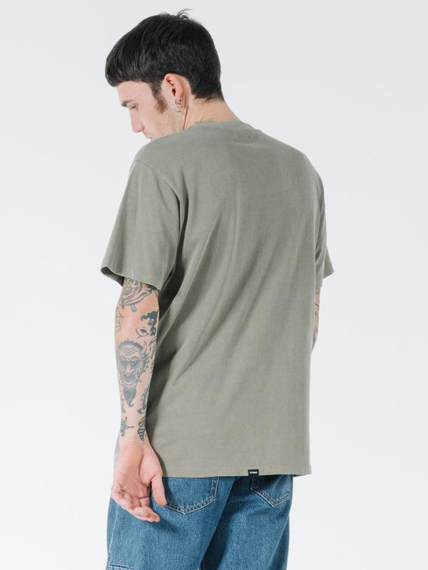 Tonal Stacked Thrills Company Merch Fit Tee - Desert