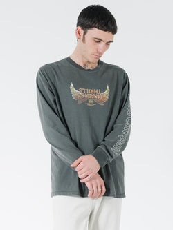 Sacred Merch Fit Long Sleeve Tee - Merch Black