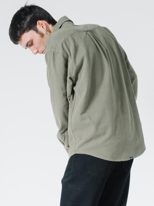 OPS Oversized Long Sleeve Shirt - Military