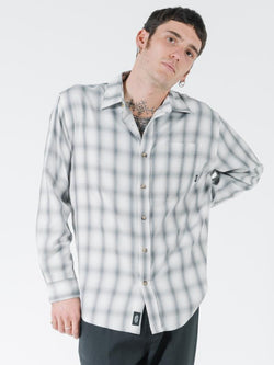 Shadows Oversize Long Sleeve Shirt - Faded Grey