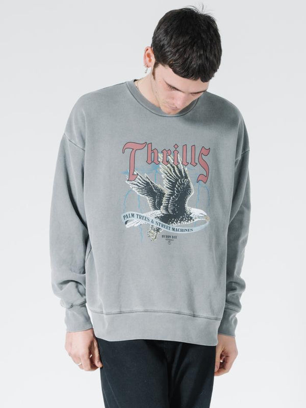 Storm The Castle Slouch Fit Crew - Washed Grey
