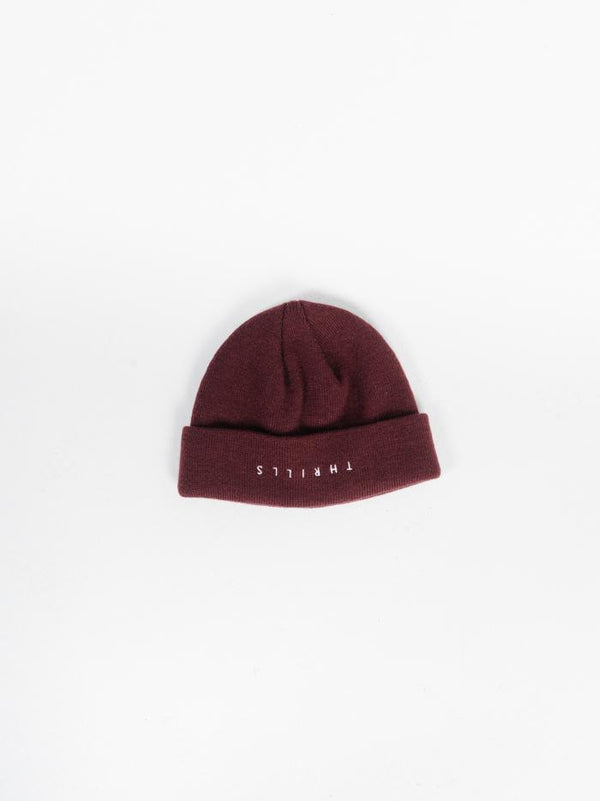 Minimal Thrills Beanie  - Blood Red
