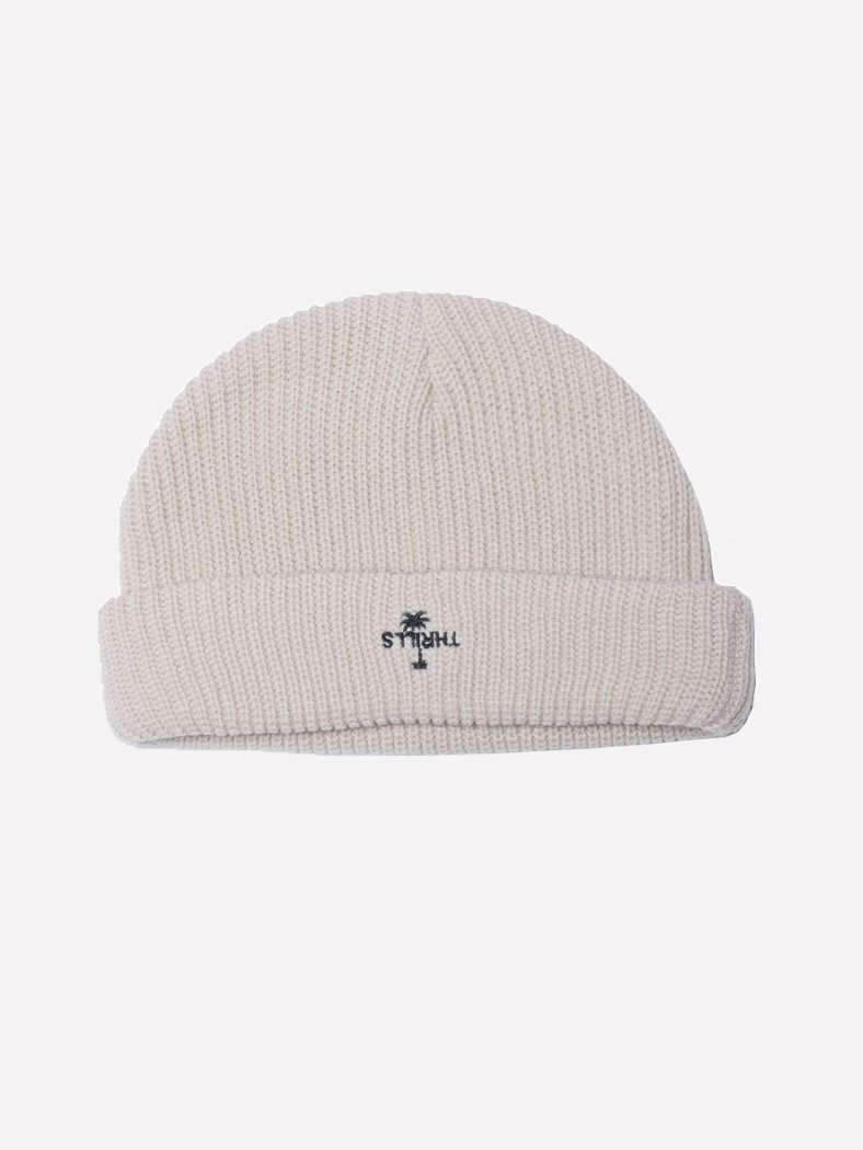 Palm Embro Beanie - Mortar