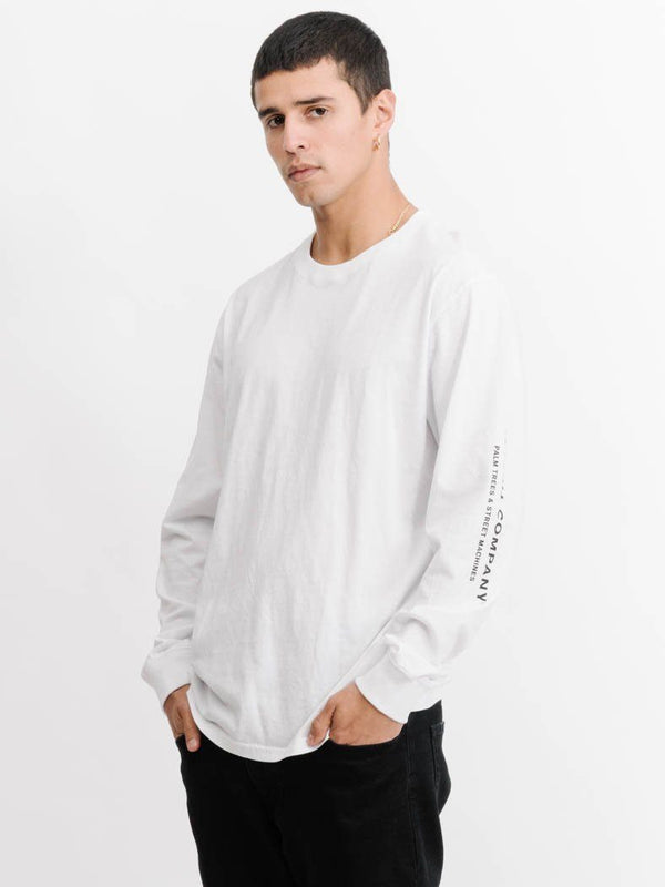 Blvd Long Sleeve Tee -  White