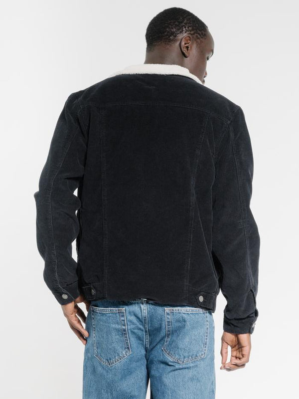 Sherpa Wanderer Corduroy Denim Jacket - Black