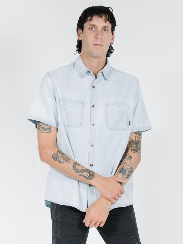 Pocket Canyon Short Sleeve Shirt -  Ice Blue