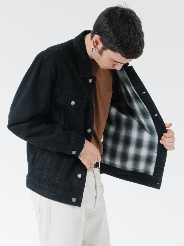 Oversized Wanderer Denim Jacket - Black Rinse