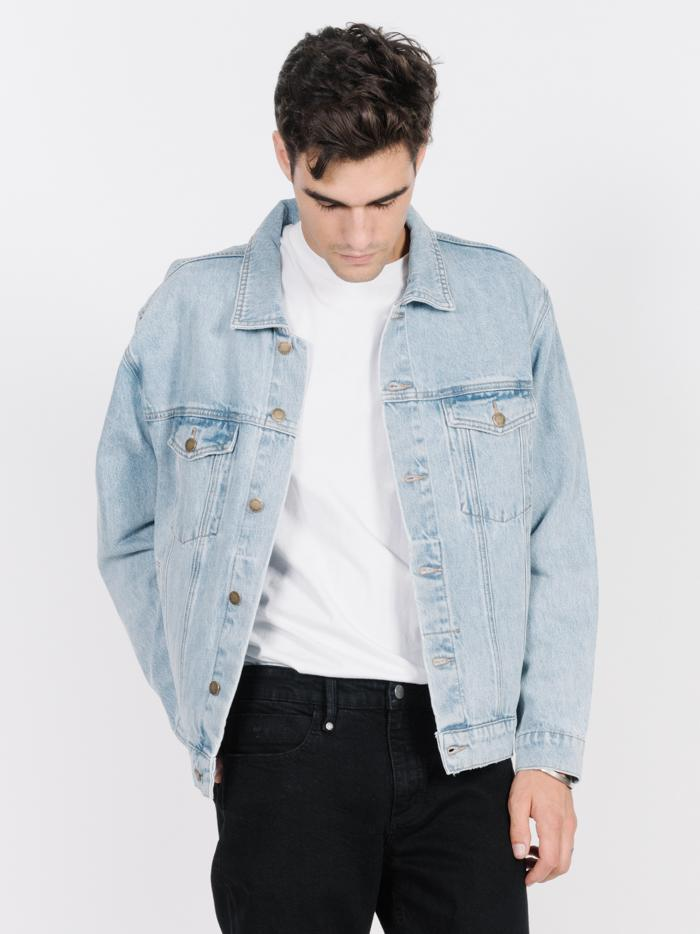 Oversized Wanderer Denim Jacket - Wasted Blue