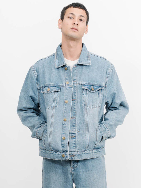 Oversized Wanderer Denim Jacket -  Thrift Blue