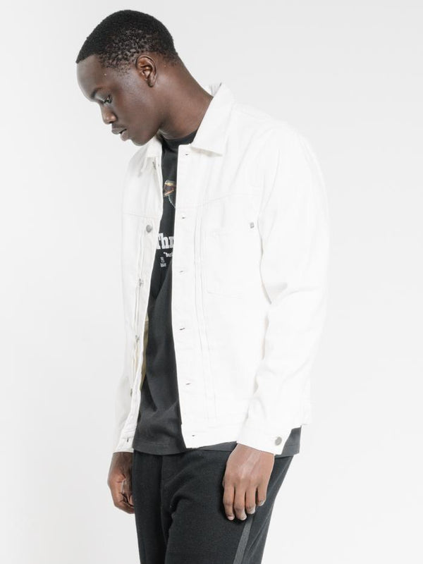 Ryder Oversized Denim Jacket  - Optic White