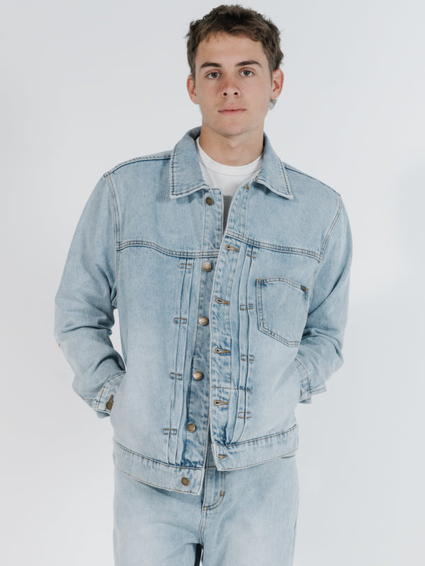 Ryder Oversized Denim Jacket  - Time Worn Blue