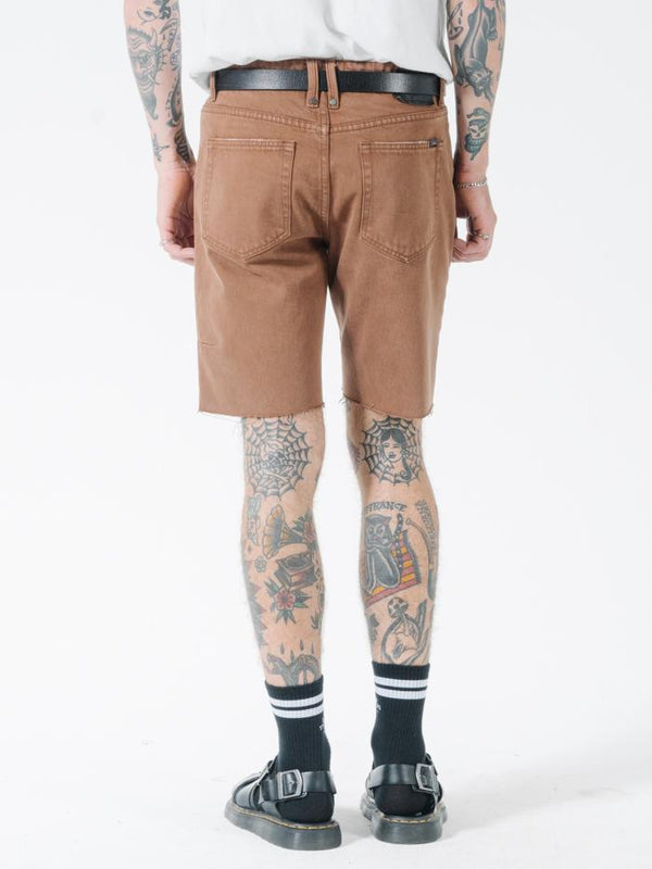 Chopped Denim Short - Bison